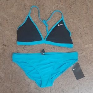 Nike Colorblock T-Back Bikini Set NWT